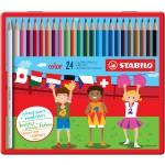 Набор STABILO Color в металлическом футляре, 24 цвета