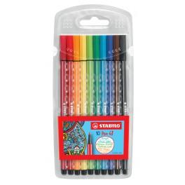 Набор 10 цв, Stabilo Pen 68