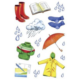 Наклейки Creative 2d Дождливая Погода
