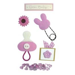 Наклейки Creative 3d Розовая Соска