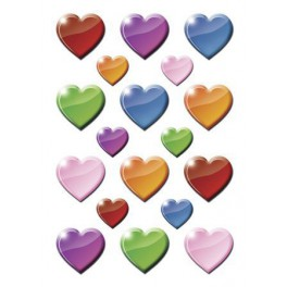 Наклейки decor цветные сердечки