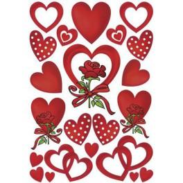 Наклейки decor сердце и роза