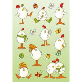 Наклейки decor пасхальные цыплята