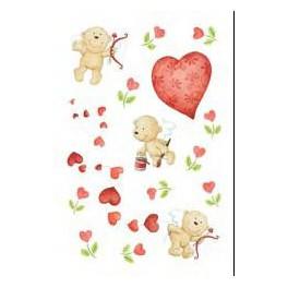 Наклейки amor цветущие сердечки