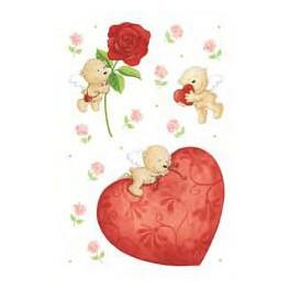 Наклейки amor большое сердце