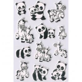 Наклейки magic панда и зебра