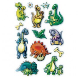 Наклейки magic динозаврики 3d