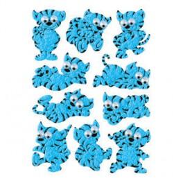 Наклейки magic синий кот (бархат)