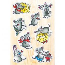 Наклейки magic веселая мышка