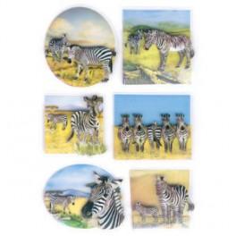 Наклейки magic зебра 3d