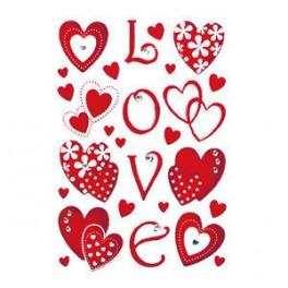 Наклейки magic любовь+сердце с кристалл