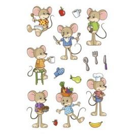 Наклейки magic мышки-малышки