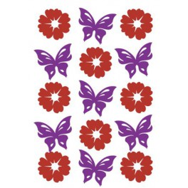 Наклейки magic цветы и бабочки