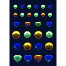 Наклейки magic гламур голубой бриллиант