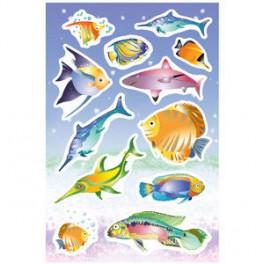 Наклейки magic радужные рыбы