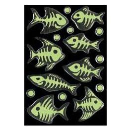 Наклейки magic скелеты рыб (светящиеся)
