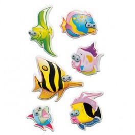 Наклейки magic полосатая рыбка