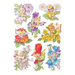 Наклейки decor цветочные феи