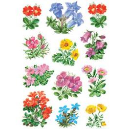 Наклейки decor горные цветы
