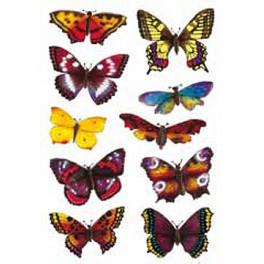 Наклейки magic 3d экзотические бабочки