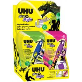 Детский клей для бумаги UHU Glue'n Style в дисплее 20 шт.