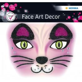 Наклейка FACE  PINK CAT
