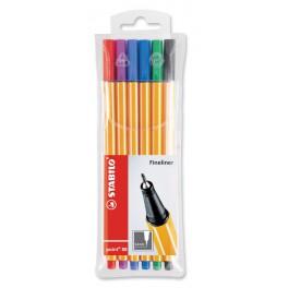 Набор капиллярных ручек STABILO point88   6 цветов