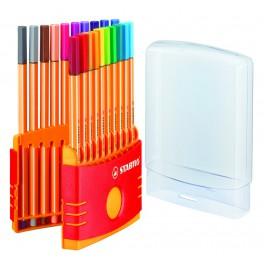 Набор  ColorParade  20 шт. STABILO point88  в разъемном пластиковом футляре